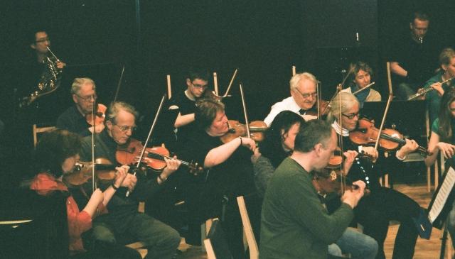 Færøernes Symfoni Orkester prøver